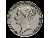 1866 Queen Victoria Young Head Sixpence .925 silver