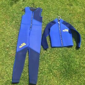 Wetsuit & matching jacket