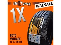 1x New 185/55R15 BUDGET 185 55 15 Fitting Available