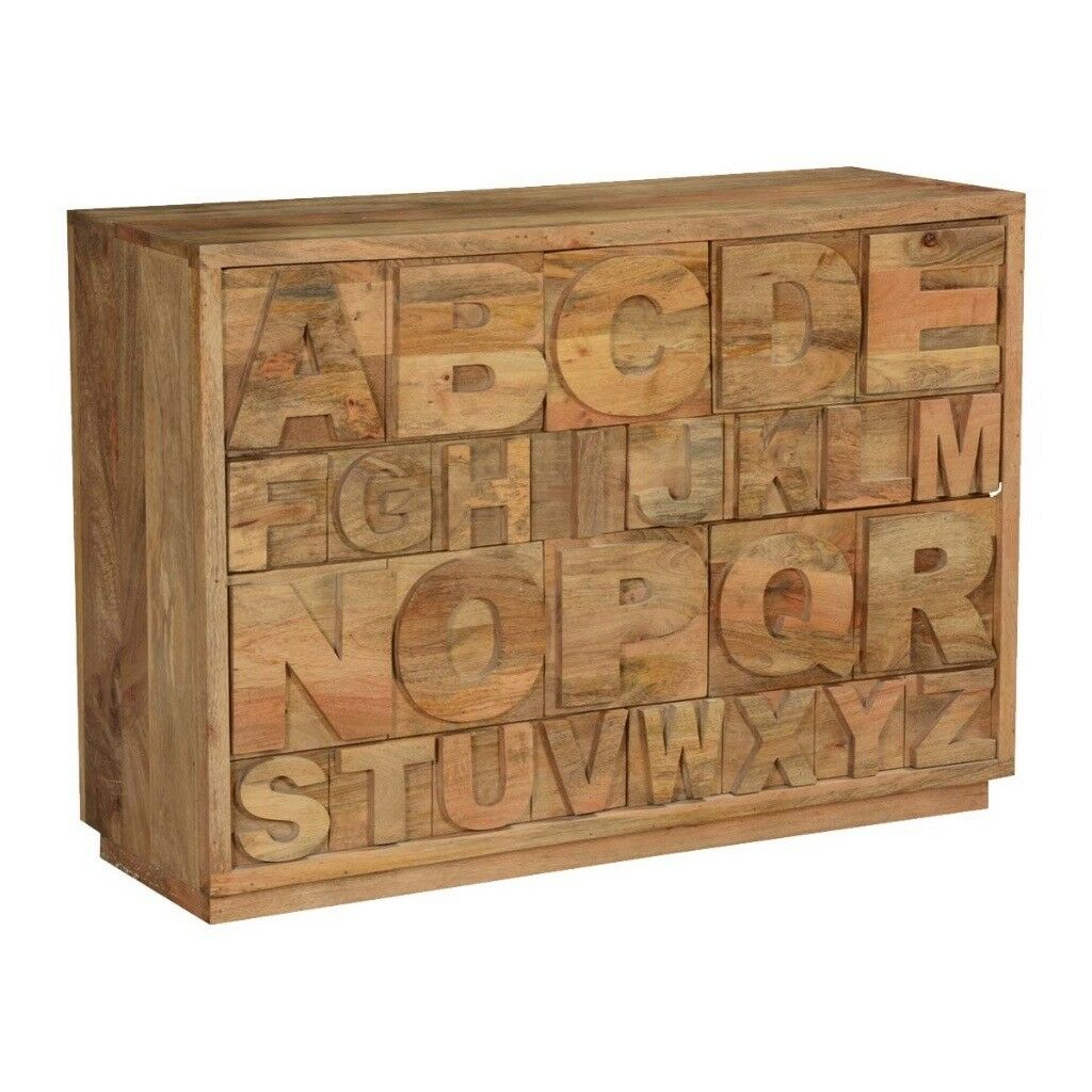 Hand Crafted Alphabet Set of Drawers