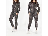 Leopard print women's tracksuit