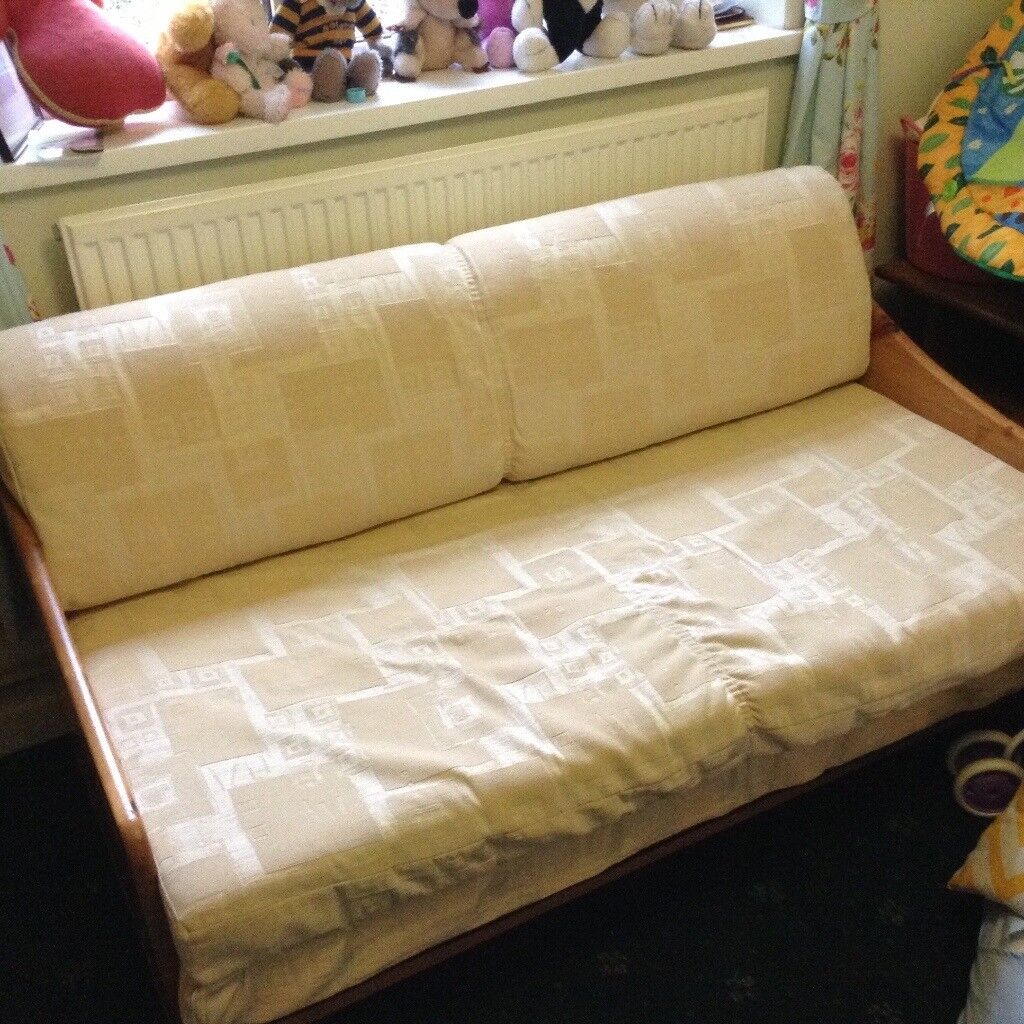 Leeks Sofa Bed In Cream Fabric Bridgend Gumtree