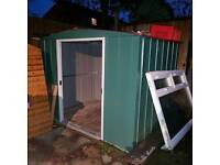 Stell garden shed