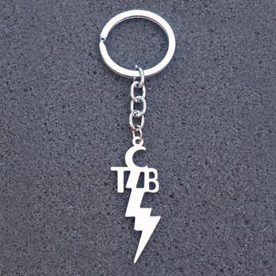 TCB KEYCHAIN Stainless Steel Charm Taking Care of Business Elvis Motto Key Chain