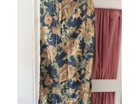 Lined ready made curtains 66in x 54in in good condition
