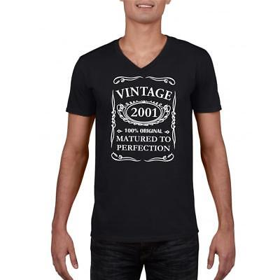 18th Birthday Present Gift Year 2001 Matured To Perfection Funny Retro T-Shirt