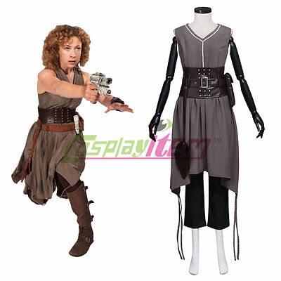 Halloween Costumes Kingston (Doctor Who River Alex Kingston Cosplay Costume Adult Halloween Cosplay)