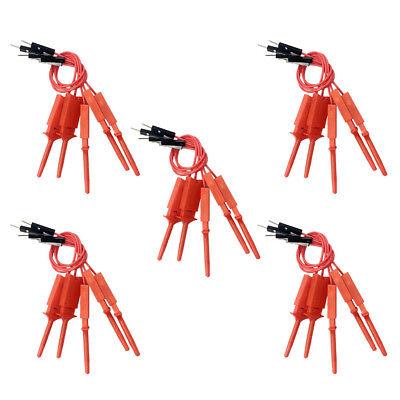 25 Pieces Mini Grabber Test Hook Clip Jumper Probe Logic Analyzer Probe Red