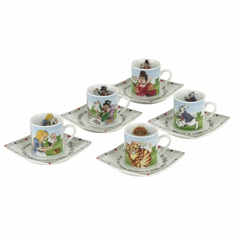 Alice in Wonderland 3 oz Collectors Tea Party Cup and Saucer Set - Boxed Cardew