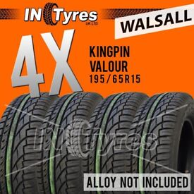 4x 195/65R15 Kingpin Tyres Four 195 65 15 Fitting Available Tyres x4 Walsall