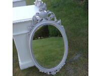 Gorgeous Grey Rococo Mirror,