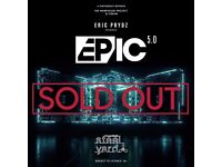 4 tickets for eric prydz - STEEL YARD LONDON. 27th MAY 2017