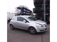 VAUXHALL CORSA D SILVER DOOR DRIVERS SIDE BREAKING SPARES PARTS USED 08 09 10 REG