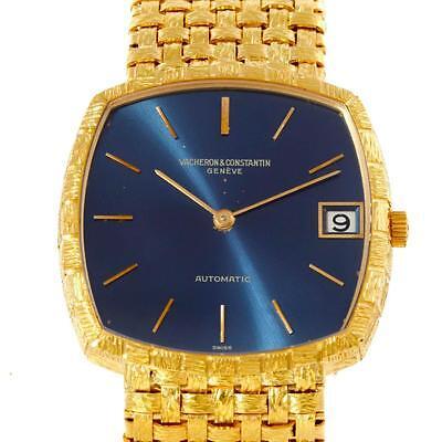 Vacheron Constantin Automatic 18K Yellow Gold Blue Dial Watch 7391