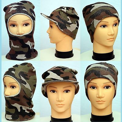 Mens Army Style Camouflage Hats (3 (Mens Style Types)