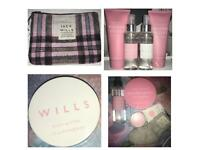 Jack wills bundle purse, lipgloss, body lotion, spray, wash, butters