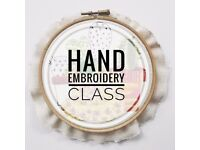 Hand embroidery class GLASGOW