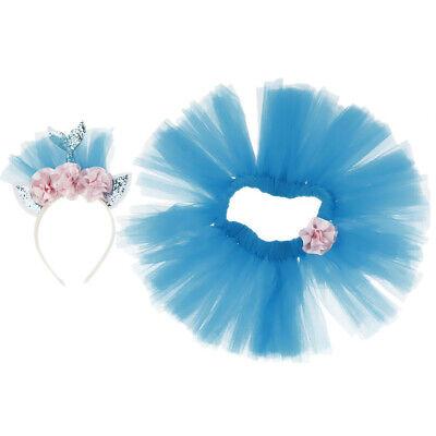 Blau Haarreif + Tutu Rock Set mit Meerjungfrau Stil für jede Alässe, Ideal