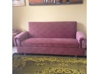 Sofa bed - perfect condition, storage for bedding underneath the seat