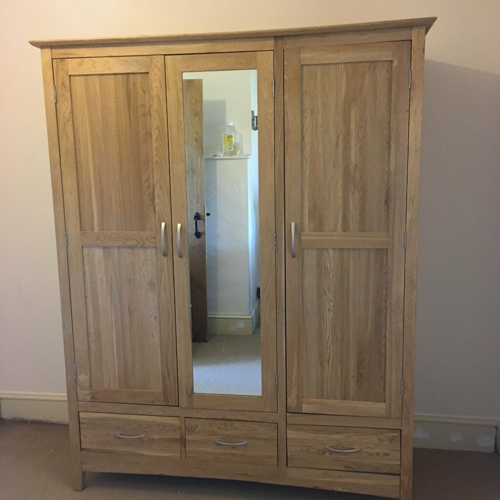 Solid Oak Wardrobe Offers Accepted In Radstock Somerset