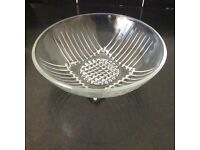 Lovely Vintage glass serving dish - in art deco style - in excellent condition