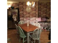 Shabby chic look dining set table and chairs