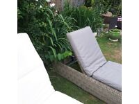 Neptune wicker sunloungers cost £990 on website with cushions