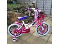 "Girls bike, Raleigh 16"" for sale, good condition perfect first bike."