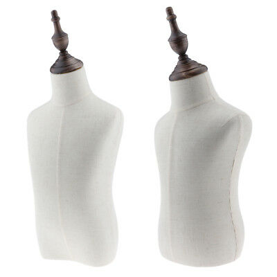 2pcs Kids Cloth Retail Mannequin Torso Dress Form Display Dressmaker Model