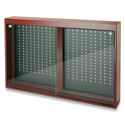 Jewelry Store Display Cherry Oak Finish Sliding Doors Display W Removable Hooks