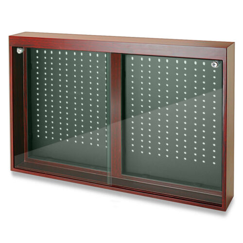 Jewelry Store Display Cherry Oak Finish Sliding Doors Display w/ Removable Hooks