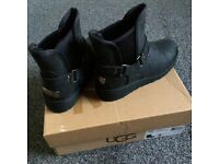 Black Leather Ugg Boots