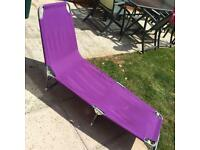 Purple sun lounger