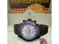 New Black Rolex Daytona with White Face Comes Rolex Bagged And Boxed With Paperwork