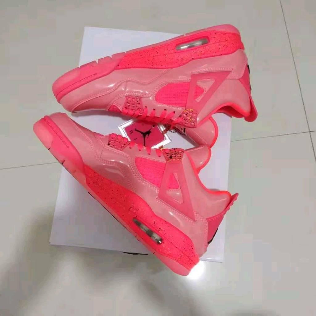 885d07e685e Nike Air Jordan 4 Retro NRG Hot Punch Black Volt Girls Women s
