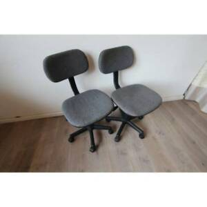 ~ RRP $350 ~ Rare Retro Office Chairs Circa 1980s Wheels Adjustable St Kilda East Glen Eira Area Preview