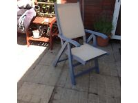 Here are 5 lovingly restored and painted hardwood chairs in cornflower blue
