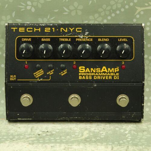 TECH21 SansAmp Programmable Bass Driver DI Guitar effect pedal (980915)