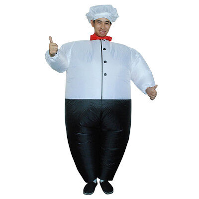 Big Inflatable Suit (Funny Inflatable Costume Big Chef Fancy Dress Outfits Halloween Party)