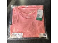Girls Pink Vest H&M Top New With Tag