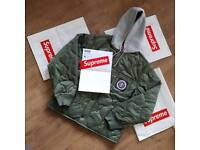 Supreme Pledge Quilted Hoodied Jacket