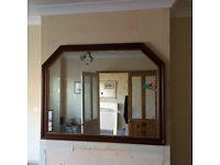 Large dark wood mirror