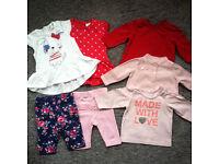 Newborn size baby girl clothes & accessories bundle