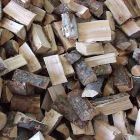 Seasoned dry hardwood logs bulk builders bag