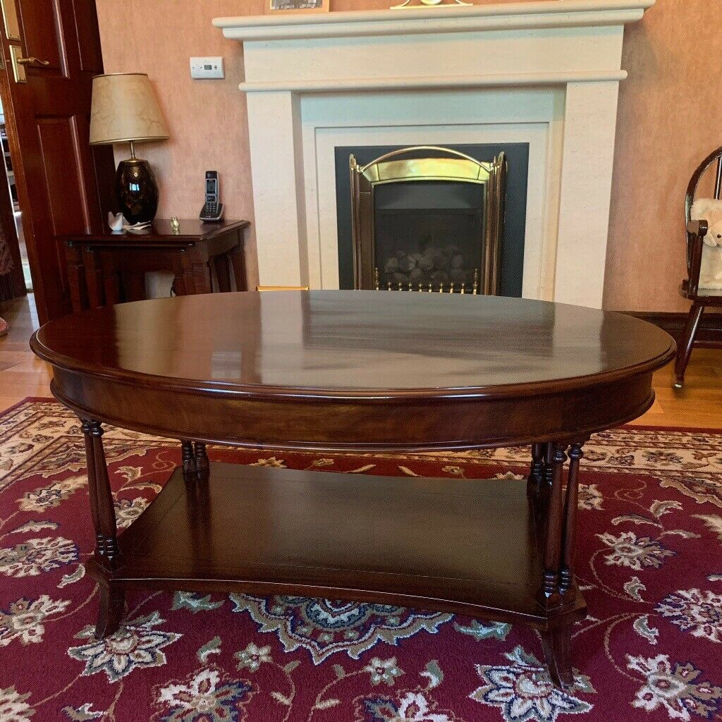 Oval Coffee Table Dark Rosewood Effect In Alloa Clackmannanshire Gumtree
