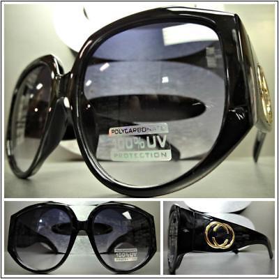 OVERSIZED EXAGGERATED VINTAGE RETRO Style SUN GLASSES Super Thick XL Black (Super Sun Glasses)
