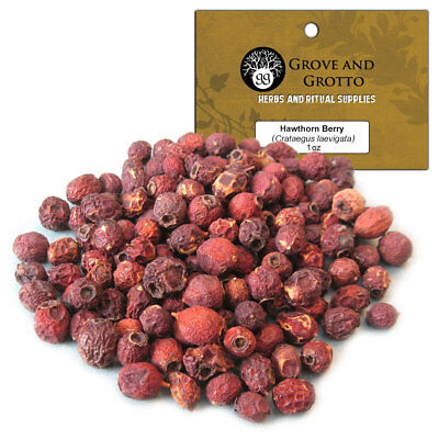 Hawthorn Berry 1 oz Package Ritual Herb Tree Berries ORGANIC by Grove and Grotto