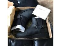 Ladies girls genuine black leather ugg boots