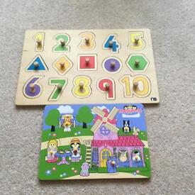 Excellent condition wooden puzzles