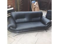 **FREE** 2 seater sofa, Black, Faux Leather